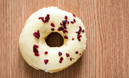 Donut on table Royalty Free Stock Image