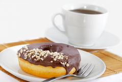Donut Tea Break Royalty Free Stock Images
