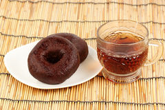 Donut and Tea Stock Images