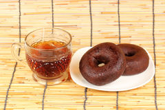 Donut and Tea Stock Photography