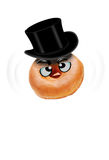 Donut with top hat Royalty Free Stock Photography