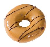 Donut topped by coffee cream and chocolate Royalty Free Stock Photo