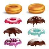 Donut Toppings Realistic Set royalty free illustration