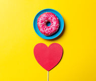 Donut and toy Stock Photo