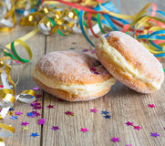 Donut. Two donuts with colorful decoration stock photography