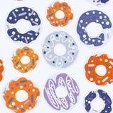 Donut vector pattern Stock Image
