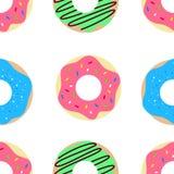 Donut vector pattern royalty free illustration