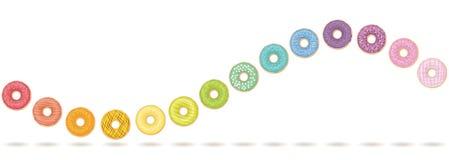 Donut-Wellen-horizontale Bewegung Lizenzfreies Stockfoto