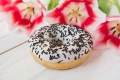 Donut on a white background royalty free stock photos