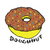 Donut on a white background vector illustration Stock Photos