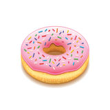 Donut  on white vector Royalty Free Stock Photo