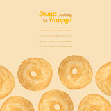 'Donut worry be Happy' postcard. Donut illustration. Donuts Pencil sketch. Royalty Free Stock Photography