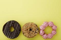 Donut Yellow Background Stock Photos