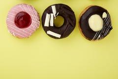 Donut Yellow Background Royalty Free Stock Photo