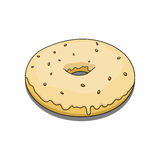 Donut with yellow coating Royalty Free Stock Photos
