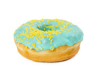 Donut with yellow sprinkles Stock Photography
