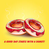Donutglasur mit Rauche Lizenzfreies Stockbild