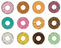 Donutikonensatz stockbild