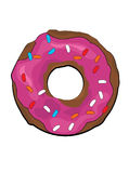 Donutillustration Stockfoto