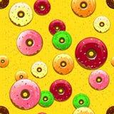Donutmuster Lizenzfreies Stockbild