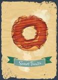 Donutplakat Lizenzfreie Stockfotos