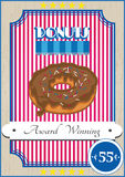 Donutplakat Lizenzfreie Stockbilder