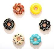 Donuts που απομονώνονται ζωηρόχρωμα στοκ φωτογραφία με δικαίωμα ελεύθερης χρήσης