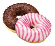 donuts απομονωμένα δύο Στοκ φωτογραφία με δικαίωμα ελεύθερης χρήσης
