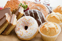 Donuts και κέικ Στοκ Εικόνες