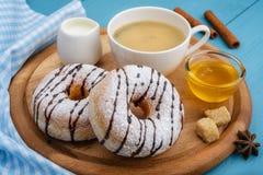 Donuts και καφές Στοκ Εικόνες