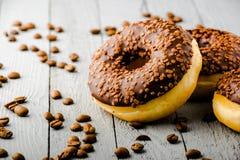 Donuts με τη σοκολάτα Στοκ Εικόνα