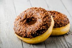Donuts με τη σοκολάτα Στοκ φωτογραφία με δικαίωμα ελεύθερης χρήσης