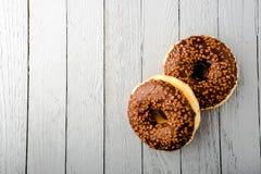 Donuts με τη σοκολάτα Στοκ Φωτογραφία