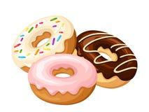 donuts τρία επίσης corel σύρετε το διάνυσμα απεικόνισης απεικόνιση αποθεμάτων