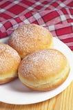 Donuts берлинца в плите Стоковые Фото
