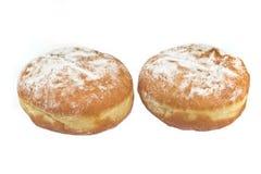 2 donuts берлинца напудренного с сахаром Стоковые Изображения RF