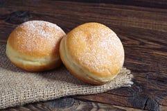 2 donuts берлинца Стоковые Изображения RF