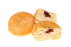 Donuts варенья на белизне Стоковая Фотография