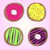 Donuts вектора Стоковое Фото
