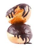 2 donuts в шоколаде Стоковая Фотография RF