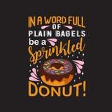 Donuts закавычат и говорить хороший для дизайна печати бесплатная иллюстрация