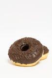 Donuts застекленные на белой предпосылке Стоковые Изображения