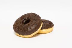 Donuts застекленные на белой предпосылке Стоковые Фотографии RF