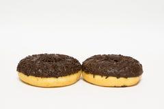 Donuts застекленные на белой предпосылке Стоковое Изображение RF