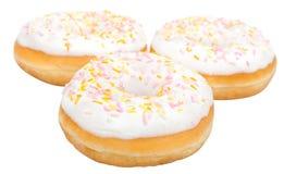 donuts изолировали белизну Стоковые Фото