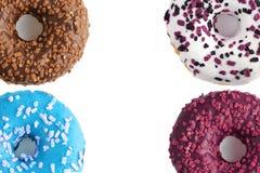 4 donuts изолированного на белой предпосылке Стоковые Фотографии RF