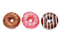 3 Donuts изолированного на белизне Стоковое Изображение RF