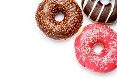 3 Donuts изолированного на белизне Стоковое фото RF