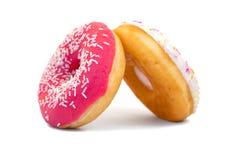 2 donuts изолированного на белой предпосылке Стоковые Фотографии RF