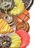 Donuts изолированные на белой предпосылке Стоковое Изображение RF